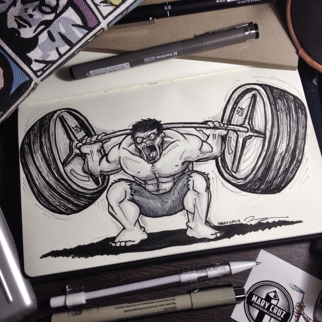 The Hulk Doing Squats: Day 16